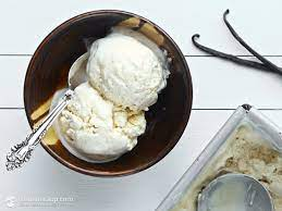 home made Vanilla Keto Ice-Cream